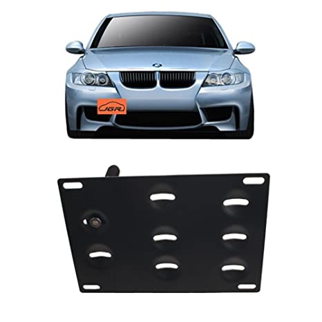 Jgr Racing Jdm Car No Drill Tow Eye Front Bumper Tow Hole Hook License Plate Mount Bracket Holder Relocation Kit For Bmw 3 Series E36 E46 E90 E91 E92