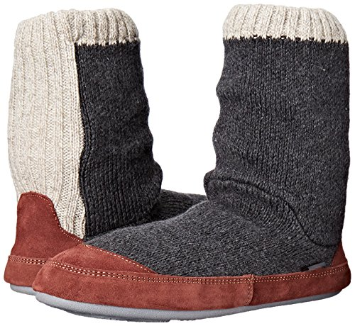 Acorn Men's Slouch Boot Slipper, Charcoal Ragg Wool, Medium/9-10 B US by Acorn (Image #6)