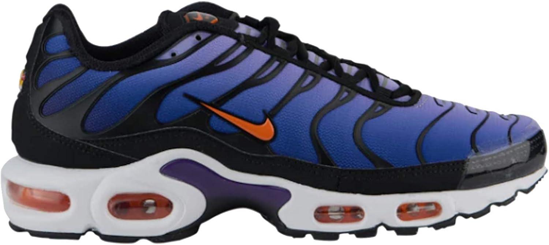Amazon.com | Nike Men's Air Max Plus Black/Total Orange ...
