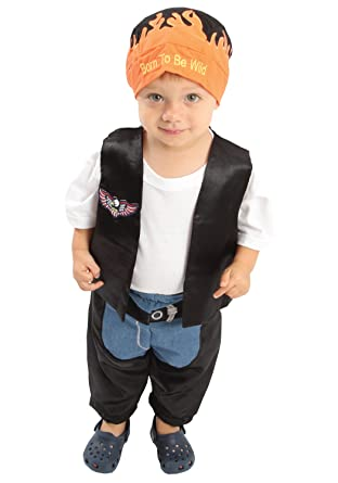 Baby Boyu0027s Biker Dude Costume Black One Size  sc 1 st  Amazon.com : biker baby costume  - Germanpascual.Com
