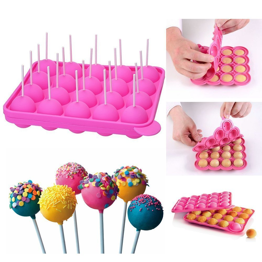 CCINEE Silicone Lolipops Stick Mould Muffins Cupcakes Mould for Lollipop Cake Baking Candy Making