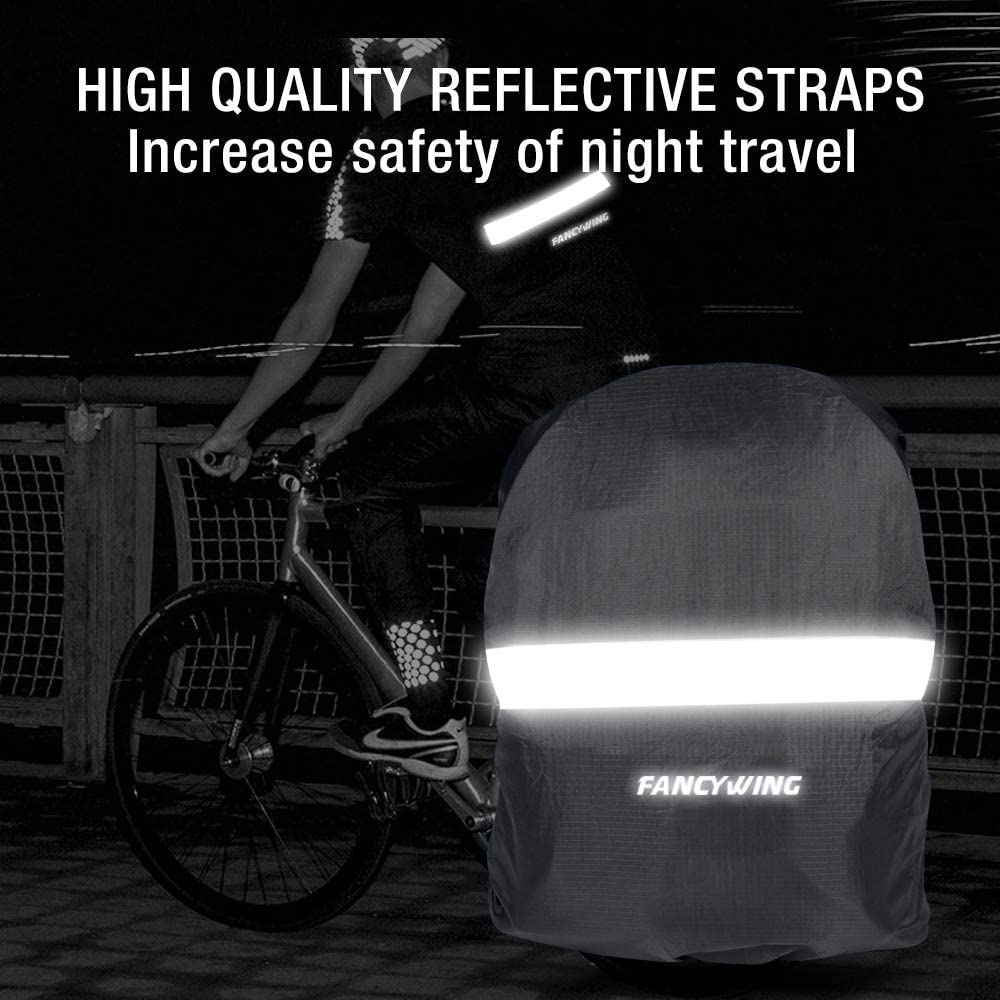 Rain Cycling FANCYWING Waterproof Backpack Rain Cover with Reflective Strap Camping Upgraded 10-90L Non-Slip Rainproof Backpack Cover for Hiking Hunting etc.