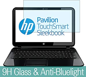 "Synvy Anti Blue Light Tempered Glass Screen Protector for HP Pavilion TouchSmart 15-b100 / b129wm / b153nr / b161sa / b140tx / b153cl / b130sa 15.6"" Visible Area Film Protectors"