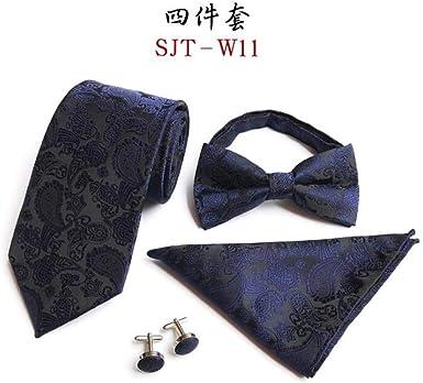 Corbata para hombre, corbata de moño, bufanda, gemelos, traje de ...