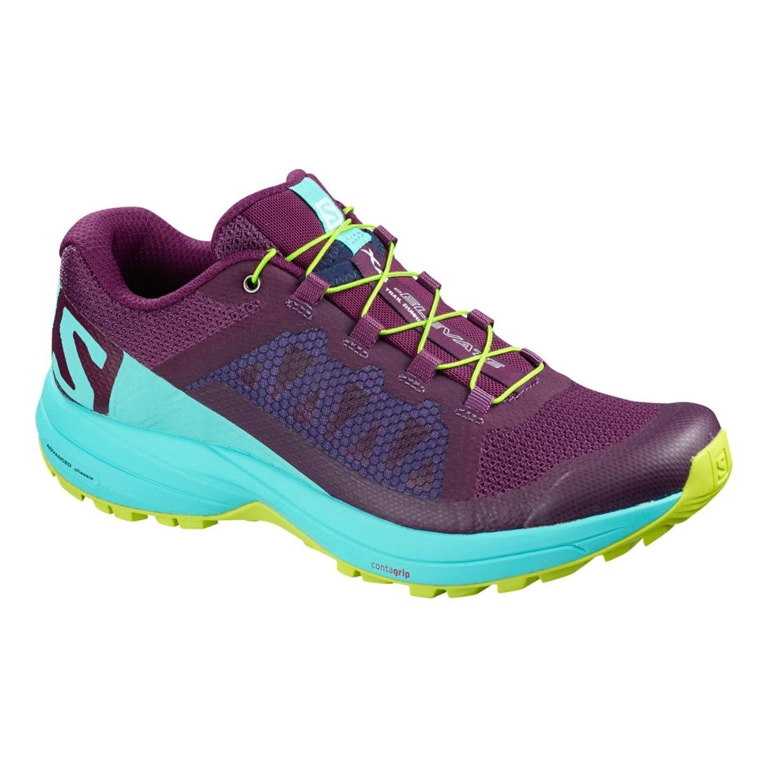 0767b6897b1b9 Salomon XA Elevate Running Shoe - Women's Dark Purple/Blue Curacao/Acid  Lime 11