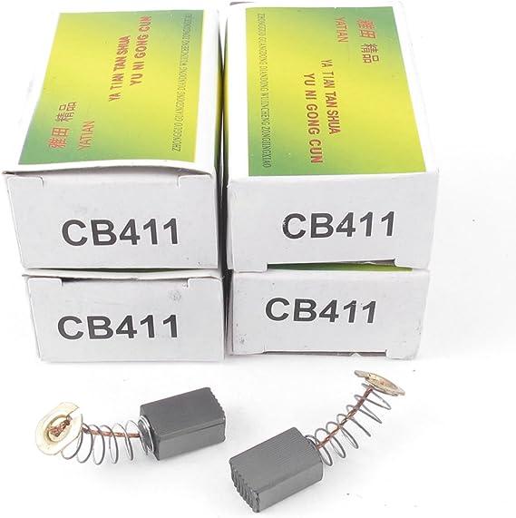 Sourcingmap 10 Stück Cb411 6mm X 9mm X 13mm Schwarz Kohlebürsten Ersatz Für Makita De Baumarkt