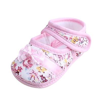 DAY8 Chaussure Bébé Fille Été Princesse Chaussure Bébé Fille Premier Pas  Bapteme Chic Bowknot Fleur Chaussures 5c1227953e0d