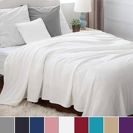 Bedsure Manta para sofá y Cama Grande 230x270cm, Blanco ...