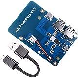 Lithium Battery Akku Pack Expansion Board, Quimat Netzteil mit Schalter + Micro USB Kabel for Raspberry Pi 3 Modell B, Pi 2 Modell B & Pi 1 Modell B + A + A QKY68