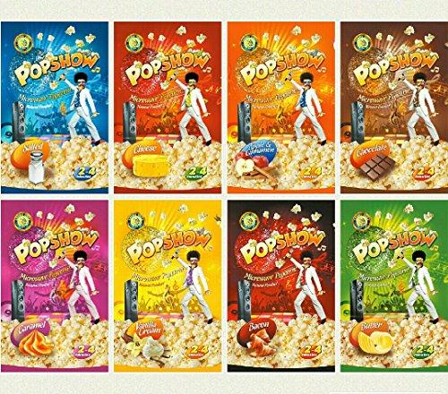 (POP SHOW Corn Microwave popcorn Assorted Flavors (8 x 80g))
