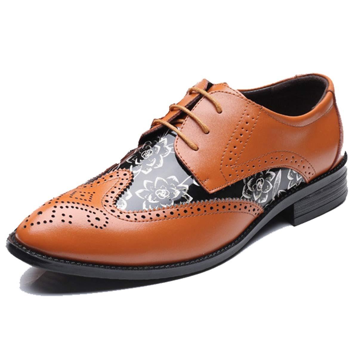 new style aa387 cfdef FOXSENSE Floral Premium Premium Premium Genuine Leather Round Toe Oxford  Shoes for Men 9 M US