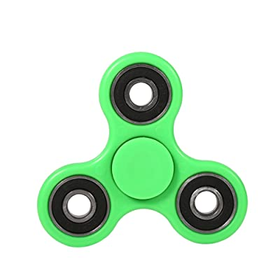 Fingertip Spinner Tri Steel Ball Focus Toy for Kids/Adult Hot Party Favors Birthday Gift for Kids Adults(Green): Home & Kitchen