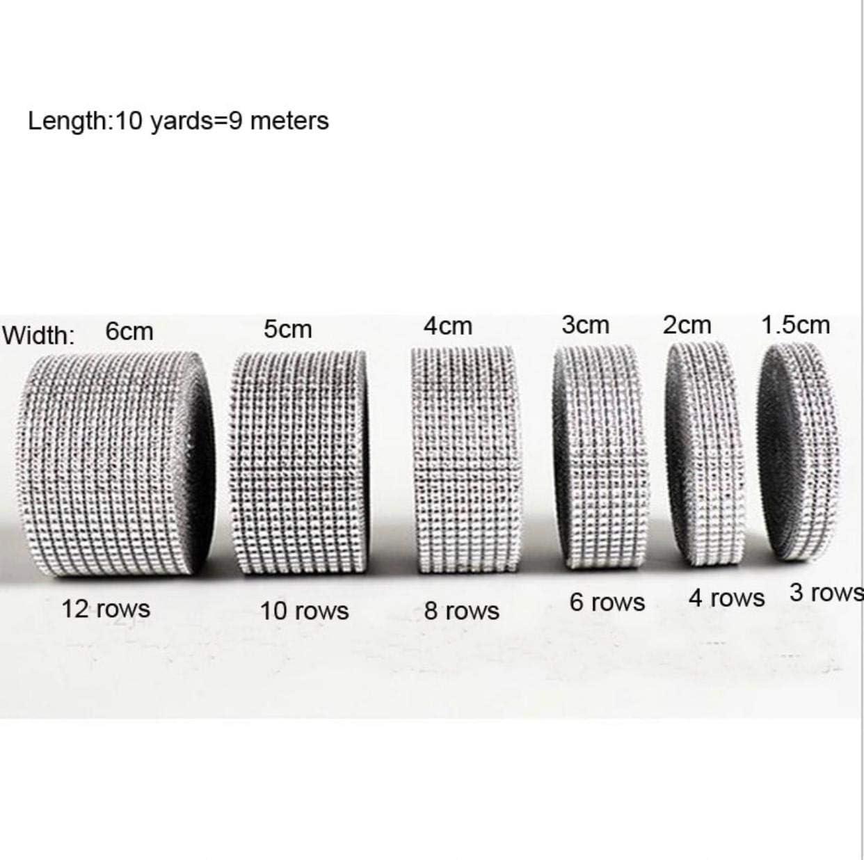 chaton antichoc en strass Crystal AB Mesh bande de strass SS6/autocollant Largeur au choix 1,15/m de long 3reihig // 7mm x 1150mm