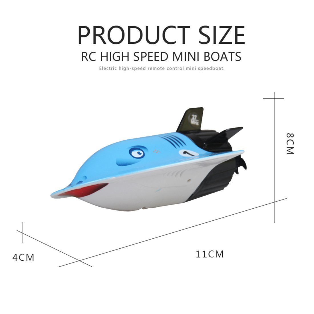 YIFAN Remote Control Submarine, Kids Adults Mini High-Speed