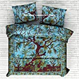 Tree Of Life Indian Cotton Duvet Doona Cover Cover Queen Size Hippie Blanket Cover Quilt Set