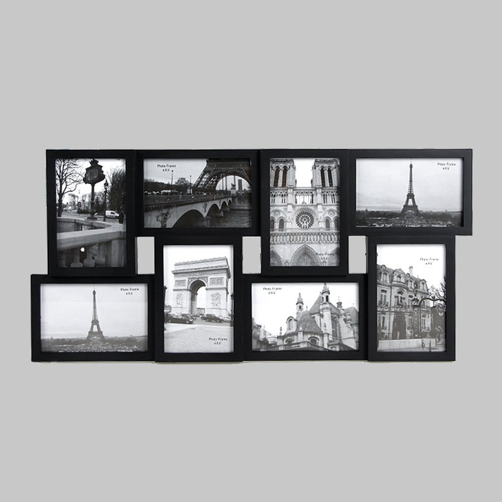 Quieting Large Multi Picture Collage Photo Frame Wall Mounted 4 x 6 Pack of 8 White