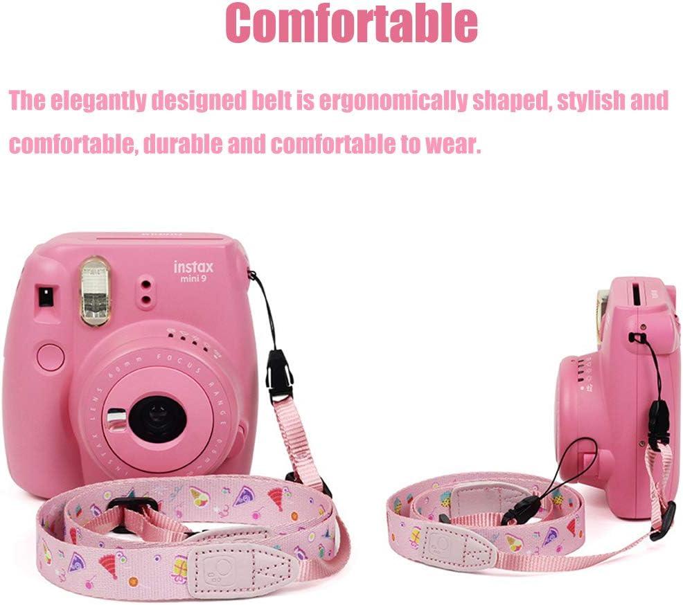 Camera Neck Shoulder Belt Strap,2 PCS Cute Neck Shoulder Strap Belt,Universal Vintage Camera Shoulder Strap for Women Pink,Green