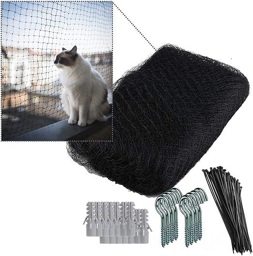 NEEZ XL - Red de protección para Gatos para balcón y Ventana, Incluye Set de fijación, fijación de Red de protección para Gatos, para balcón, sin Agujeros: Amazon.es: Productos para mascotas