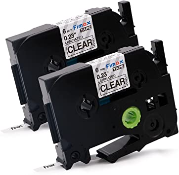 2PK TZ TZe111 Black on Clear Label Tape for Brother P-Touch PT-1000 1010 6mm*8m