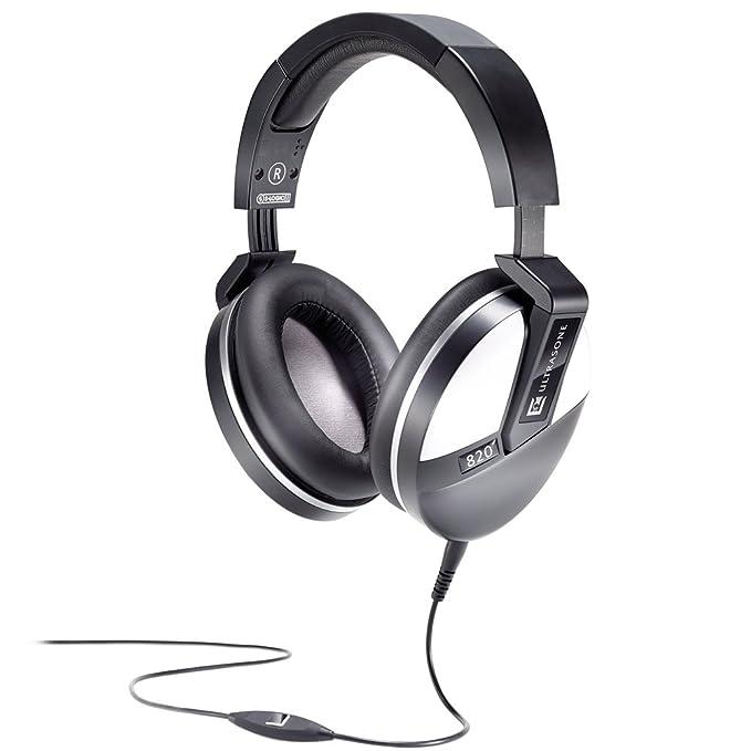 Ultrasone Performance 820 (White Accent) S-Logic Plus Surround Sound Professional Closed-back Headphones DJ & VJ Equipment at amazon