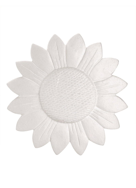Wei/ß 15 x 15 x 1,5 cm GLOREX Styropor Sonnenblume