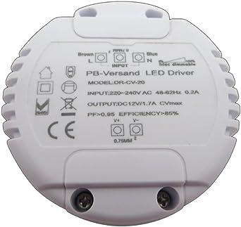 30 W DC //30 W DC Dimmbar 12 V DC für LED-Trafo 12 V //30 W; LED-Trafo 12 V
