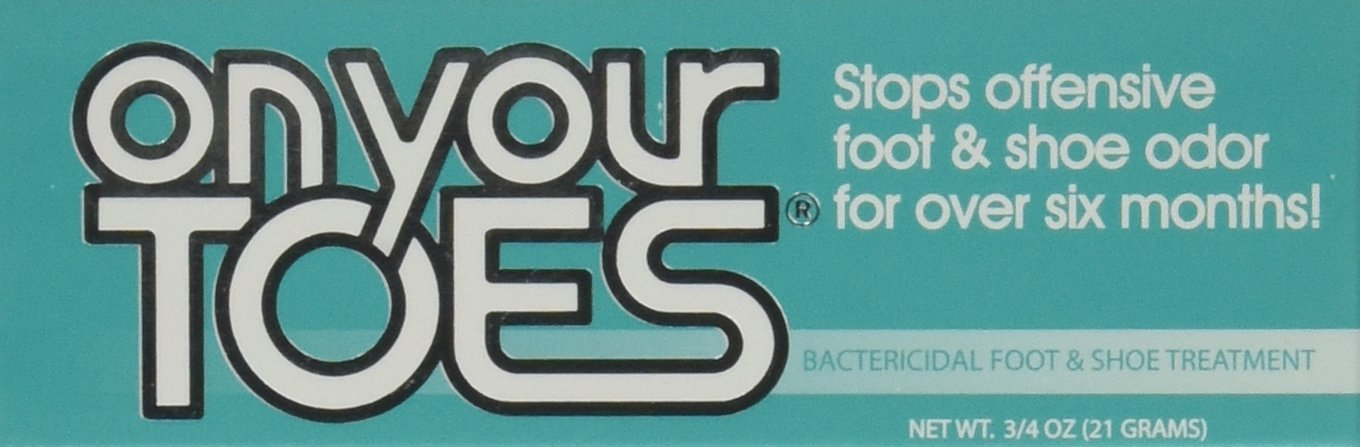 On Your Toes Foot Bactericide Powder - Eliminates Foot Odor for Six Months - Four Packs