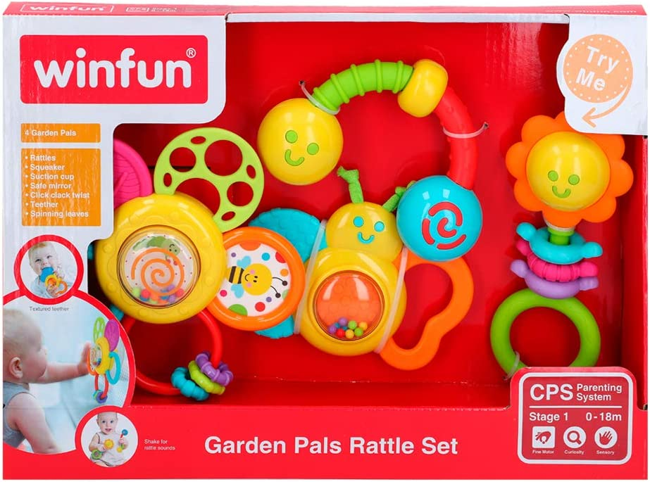 winfun - Conjunto 4 sonajeros (46332): Amazon.es: Juguetes y juegos