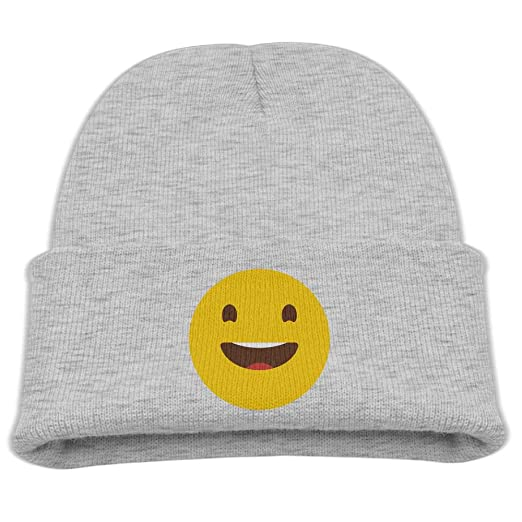 e167aeb7fd1 Banana King Smiley Cartoon Yellow Face Baby Beanie Hat Toddler Winter Warm  Knit Woolen Watch Cap for Kids at Amazon Men s Clothing store