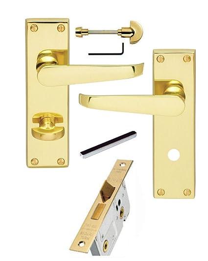 Carlisle Brass Victorian Bathroom Door Handles 64mm Bathroom Lock