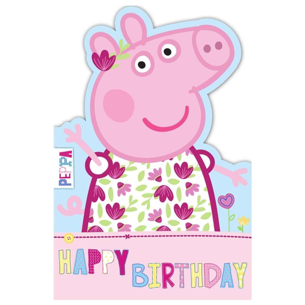 Gemma International Biglietto per auguri di compleanno di Peppa Pig, in lingua inglese