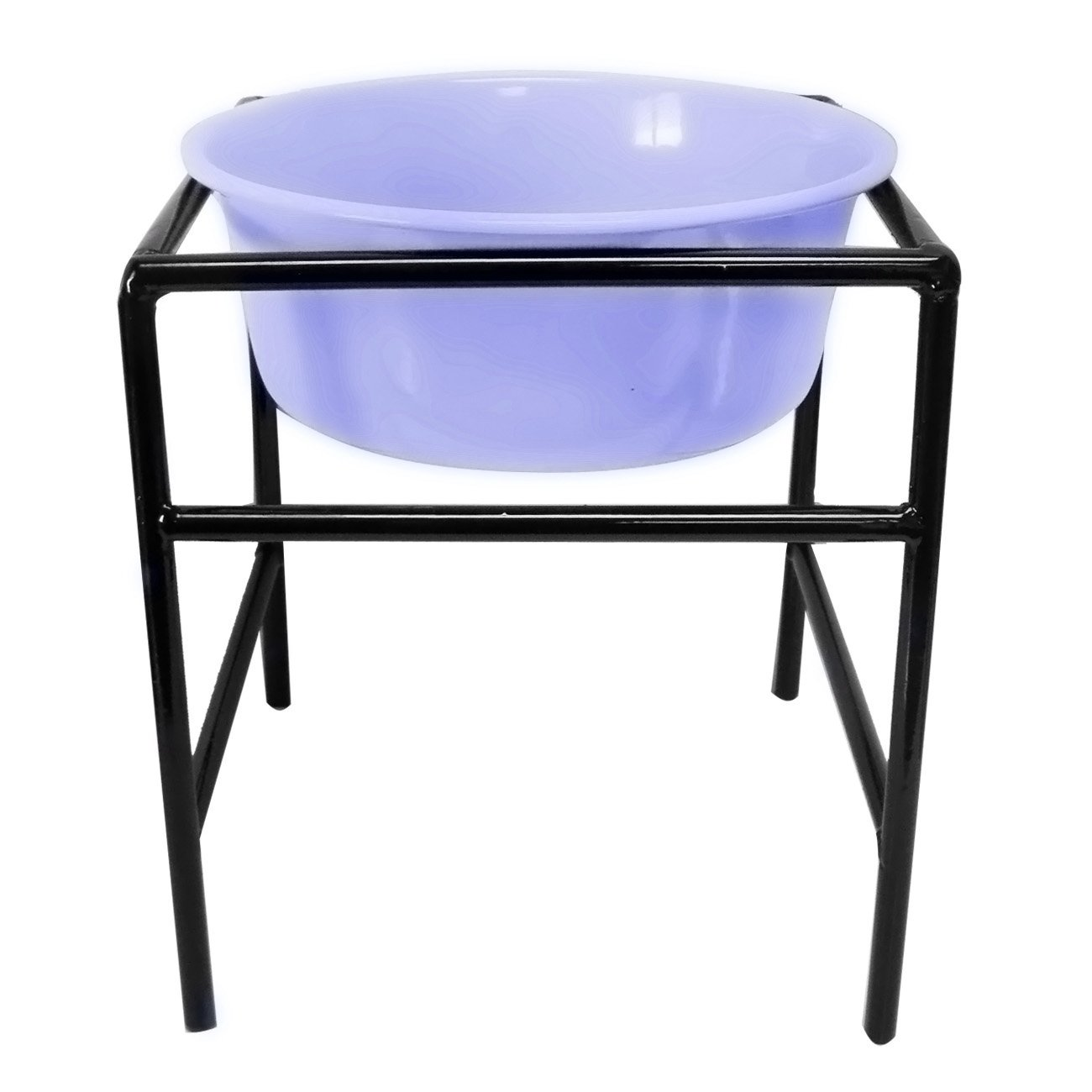 Platinum Pets Platinum Pets 1-Pint Single Modern Diner Stand with Extra Heavy Dish, Sweet Lilac