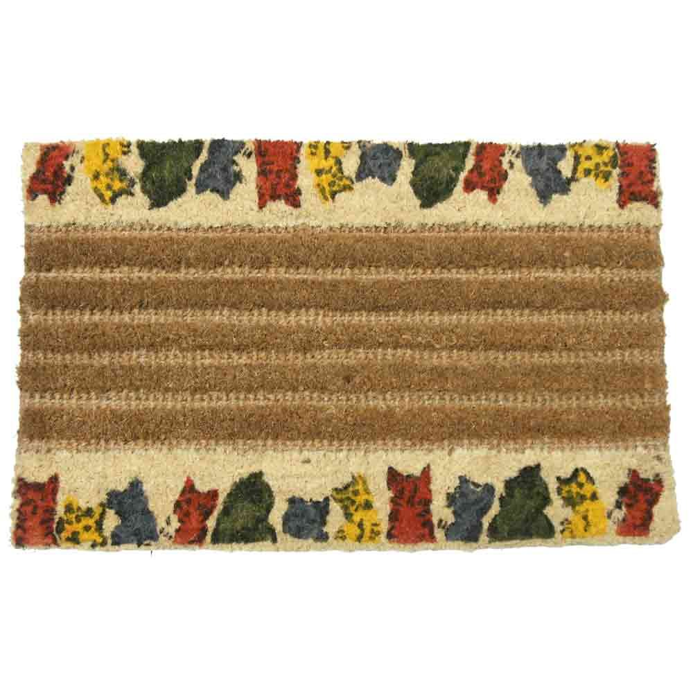 Rubber-Cal 10-102-015 Kitty Cat Outdoor Coir - 18 x 30 Decorative House
