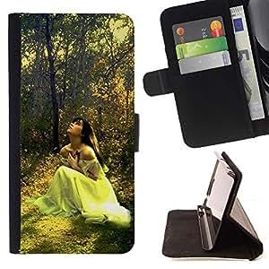 Momo Phone Case / Flip Funda de Cuero Case Cover - Dise?o Forrest Novia - Samsung Galaxy S5 V SM-G900