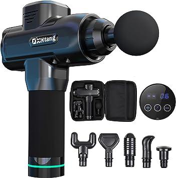6//4 Köpfe Elektrisch Massagegerät Massagepistole Massager Gun LCD Smart Touch