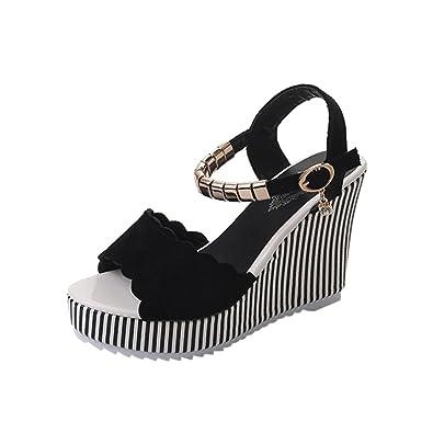 b9d1007cf160 Lolittas Summer Beach Boho Wedge Sandals Women Ladies