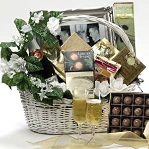 Best Wishes To You Wedding Gourmet Food Gift Basket, LARGE (Scheduled Delivery)