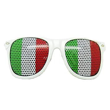 Ndier Lunettes à Grille à Trous Coupe du Monde Design Drapeau Italie Foot  Soirée évenement à 2f2f0f4a2748