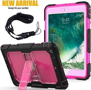 Funda para iPad Mini 1/2/3, FANSONG 3 in1 Híbrido Protección Resistente a Prueba de Golpes con función de Soporte Estuche Resistente para Apple iPad Mini/iPad Mini 2/iPad 3 Mini(Claro Rosado): Amazon.es: Electrónica