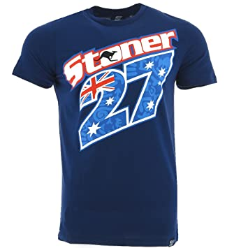 Casey Stoner 27 Moto GP Logo Blue T Shirt Official 2017