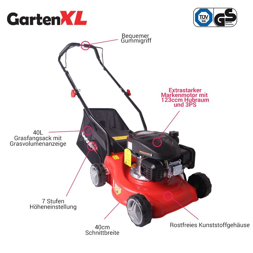 Cortacesped manual GartenXL 16LP-123-S | Cortacesped ...