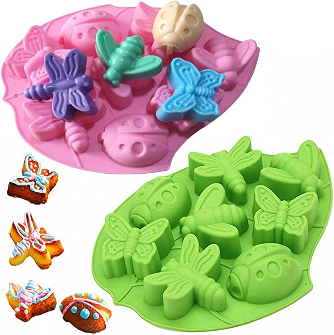 3D Dragonfly Silicone Molds Insect Cupcake Topper Fondant Mold DIY Cake Mould