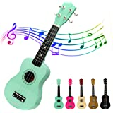 Lujex Best Soprano Ukulele Great Fun for Adult Beginners and Children Love Ukuleles (Green)
