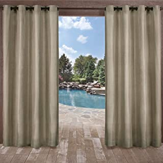 Exclusive Home Curtains Biscayne Grommet Top Panel Pair, Natural, 54x96, 2 Piece