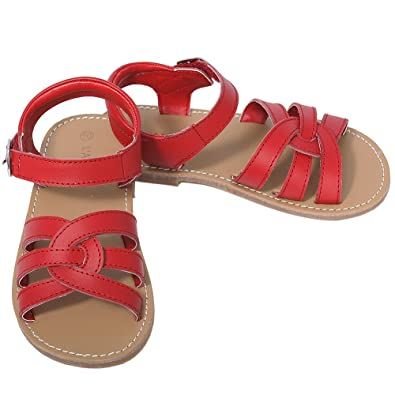 19f4da237 L Amour Red Woven Strap Summer Sandals Little Girls 11