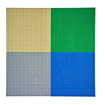EKIND Classic Building Baseplate 10 x 10 Compatible with Lego Brickyard Building Blocks, Perfect for Activity Table or Displaying Compatible Construction Toys