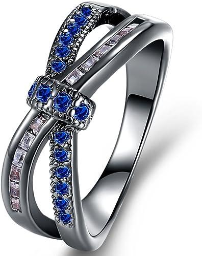 Amazon Com Womens Classic Criss Cross Wedding Enegagement Rings