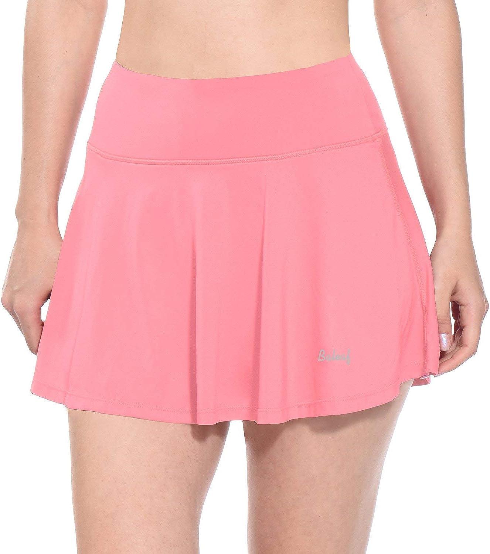 BALEAF Women's Athletic Golf Skirt Tennis Skort Pleated with Pockets: Clothing