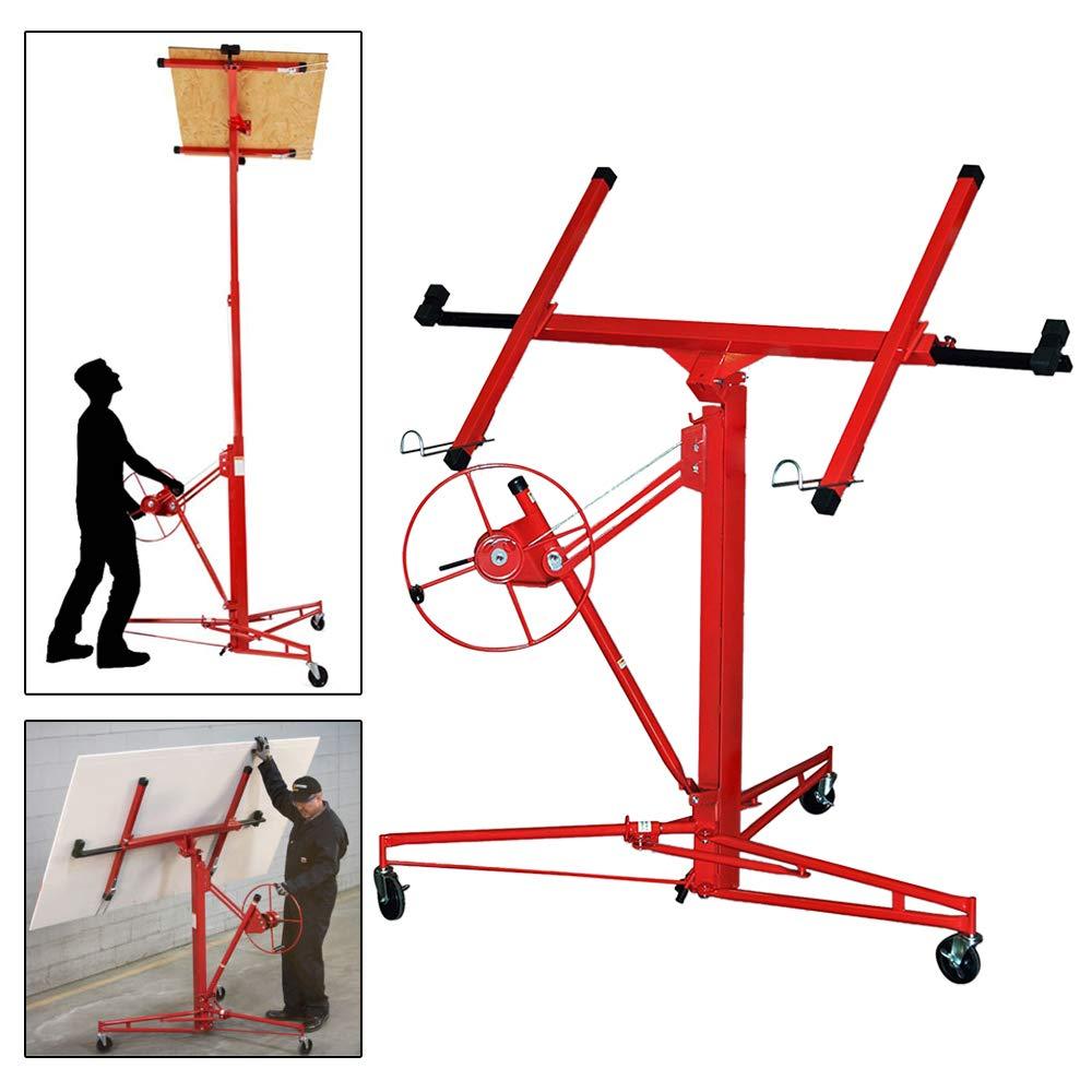m/áx altura ajustable 140 cm de altura de trabajo Ancho de brazo de carga de 290 cm BMOT Elevador de placas plegable XXL 350 cm 68 kg de carga