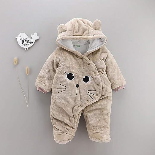 TTLOVE/_Baby Kleidung,Baby Winter Fleece Overall Jumpsuit Neugeborenes M/ädchen Junge Niedlich B/äR Strampler Schneeanzug Outfits Spielanzug Mit Kapuze Footies